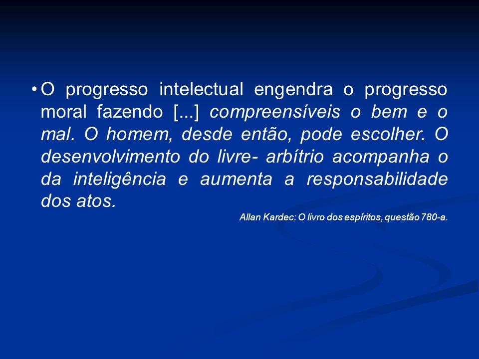 O progresso intelectual engendra o progresso moral fazendo [
